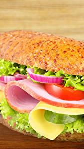 Bilder Fast food Butterbrot Brötchen Gemüse Schinken Sandwich Bretter