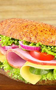 Bilder Fast food Butterbrot Brötchen Gemüse Schinken Sandwich Bretter Lebensmittel