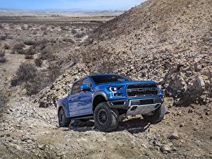 Pictures Ford Pickup Blue F-150 Raptor Cars