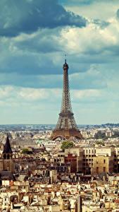 Bilder Frankreich Gebäude Himmel Paris Megalopolis Eiffelturm Wolke