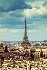 Bilder Frankreich Gebäude Himmel Paris Megalopolis Eiffelturm Wolke Städte