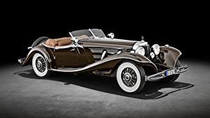Bilder Mercedes-Benz Retro Roadster Braune 500 K Special Roadster (W 29), 1934 Autos