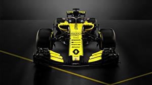 Bilder Renault Formula 1 Grauer Hintergrund Vorne 2018 R.S.18 Autos Sport