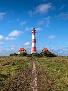 Hintergrundbilder Himmel Leuchtturm Deutschland Westerheversand