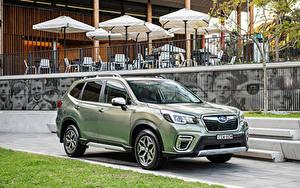 Hintergrundbilder Subaru Softroader Grün 2020 Forester Hybrid L Autos