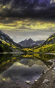 Hintergrundbilder Vereinigte Staaten Berg See Steine Herbst Landschaftsfotografie Colorado