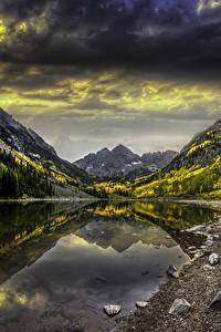 Hintergrundbilder Vereinigte Staaten Berg See Stein Herbst Landschaftsfotografie Colorado