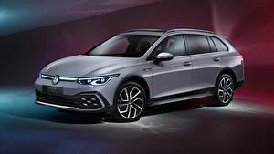 Bilder Volkswagen Kombi Grau Metallisch Golf Alltrack, 2020 Autos