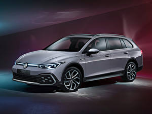 Pictures Volkswagen Station wagon Grey Metallic Golf Alltrack, 2020 Cars