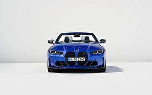Fotos BMW Cabrio Blau Metallisch Vorne M4 Competition M xDrive Cabrio, (Worldwide), (G83), 2021 auto
