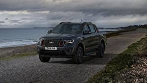 Fotos Ford Küste Pick-up Schwarz Metallisch Ranger Thunder, 2020 automobil