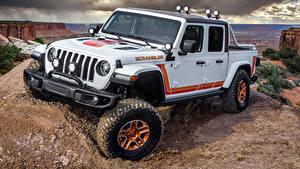 Bilder Jeep SUV Pick-up Weiß 2019 JT Scrambler