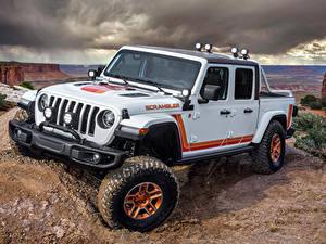 Bilder Jeep SUV Pick-up Weiß 2019 JT Scrambler automobil
