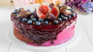 Hintergrundbilder Süßigkeiten Torte Echte Feige Powidl Heidelbeeren