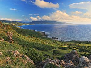 Bilder Taiwan Küste Landschaftsfotografie Laubmoose