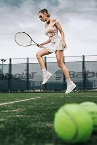 Fotos Tennis Bein Sprung Katrin Sarkozy, Anton Harisov Mädchens