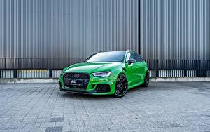 Hintergrundbilder Audi Grün ABT Sportback RS3 auto