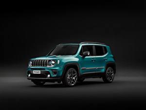 Hintergrundbilder Jeep Grauer Hintergrund 2018-19 Renegade Limited Worldwide Autos