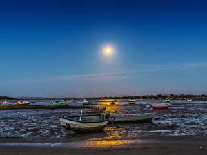 Bilder England Abend Flusse Boot Sonne Dorset