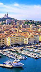 Hintergrundbilder Marseille Frankreich Haus Bootssteg Motorboot