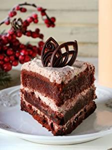 Fotos Törtchen Süßigkeiten Torte Teller Stücke