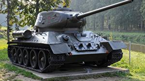 Bilder Panzer Denkmal T-34 Russisches T-34-85 Heer