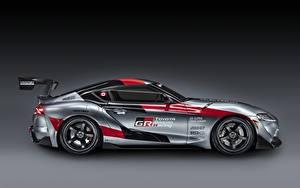 Tapety na pulpit Toyota Coupé Szara Widok z boku GR Supra Track Concept, 2020 samochód