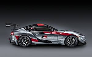 Fondos de escritorio Toyota Coupe Gris Lateralmente GR Supra Track Concept, 2020 autos