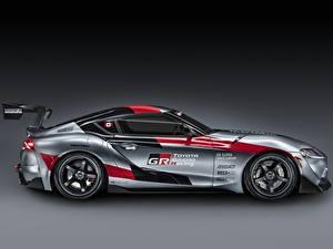 Fotos Toyota Coupe Graue Seitlich GR Supra Track Concept, 2020 auto