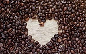 Fotos Kaffee Getreide Herz