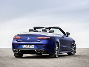 Hintergrundbilder Mercedes-Benz Cabriolet Blau Metallisch Hinten E 53 4MATIC, Cabrio Worldwide, A238, 2020 automobil