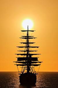 Fotos Schiffe Segeln Silhouette Sonne