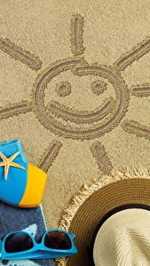 Hintergrundbilder Sommer Sand Sonne Der Hut Brille