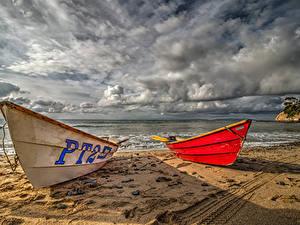 Hintergrundbilder Vereinigte Staaten Küste Boot Himmel Kalifornien Sand Wolke Natur