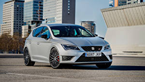 Desktop wallpapers Seat Silver color Metallic Leon Cupra 290 Worldwide, 5F hatchback Cars