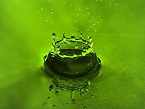 Hintergrundbilder Wasser Tropfen Wasser spritzt Grün