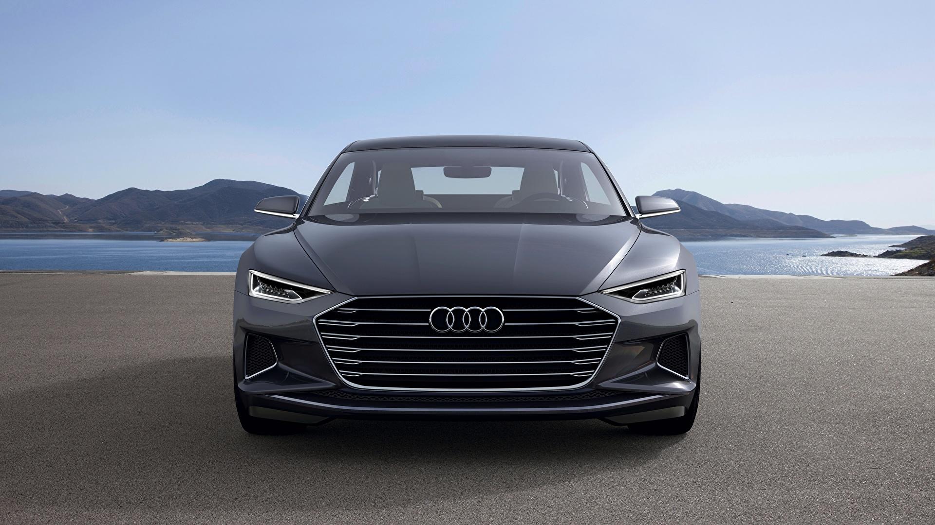 Foto Audi 2014, Prologue, Concept Coupe graues auto Vorne Metallisch 1920x1080 Grau graue Autos automobil
