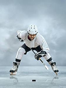 Hintergrundbilder Mann Hockey Uniform Helm Eis Schlittschuh Sport