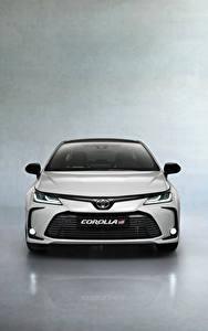 Fotos Toyota Vorne Weiß Metallisch Corolla Hybrid Sedan GR Sport, 2020 auto