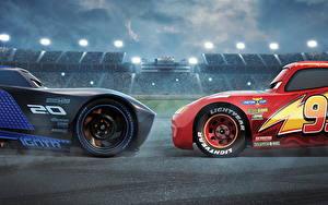 Fonds d'écran Cars 3 2 Lightning McQueen, Jackson Storm