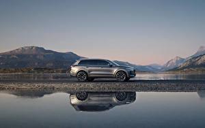 Fotos Wasser Softroader Graues Metallisch Seitlich Spiegelt Chinesisch Lixiang ONE, 2020 auto