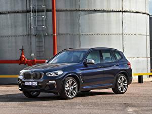 Bilder BMW Blau Metallisch Crossover 2019 X3 M40d Autos