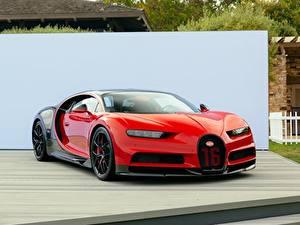 Hintergrundbilder BUGATTI Rot Metallisch chiron Autos