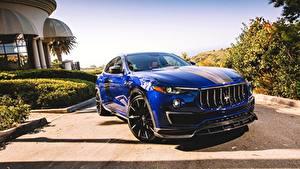 Hintergrundbilder Maserati Blau Metallisch 2017 Larte Design Maserati Levante Shtorm Autos