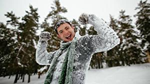 Hintergrundbilder Mann Winter Glückliche Schnee Hand