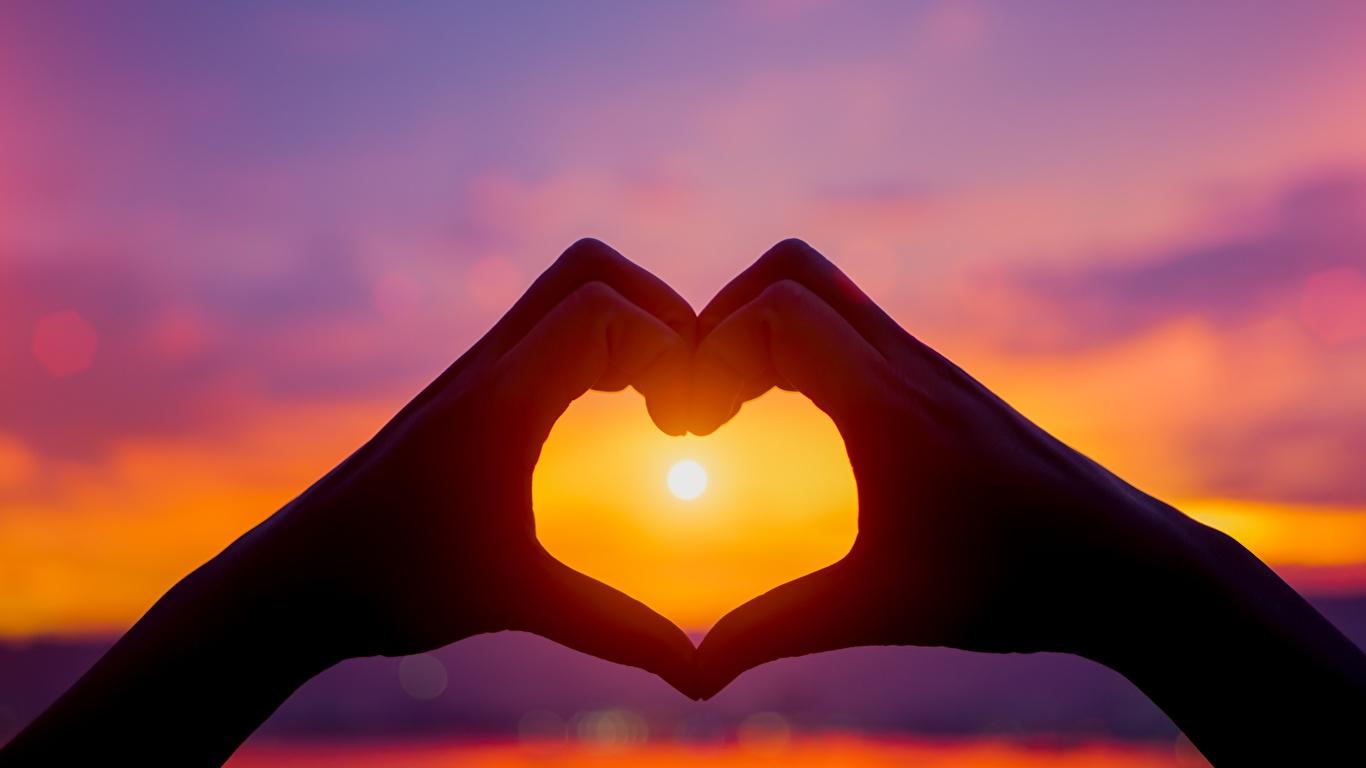 Photos Sun Sunrises And Sunsets Hands 1366x768