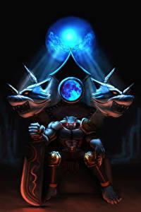Hintergrundbilder Supernatural Wesen Thron Schwert Sitzend Fantasy