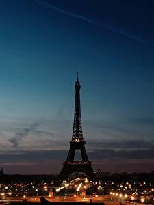 Hintergrundbilder Himmel Frankreich Eiffelturm Silhouette Paris Nacht Städte