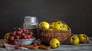 Hintergrundbilder Stillleben Obst Weintraube Weidenkorb