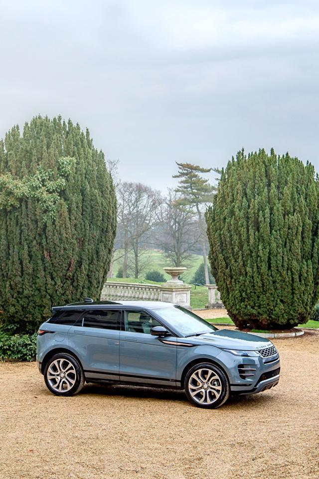 Fotos Land Rover Crossover 2019 Evoque R-Dynamic First Edition Worldwide Grau Autos Metallisch 640x960 für Handy Softroader graue graues auto automobil